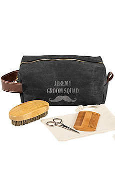 Personalized Mustache Dopp Kit and Grooming Set