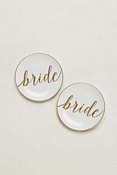 Bride and Bride Dessert Plates Set of 2 GPD1BB