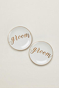 Groom and Groom Dessert Plates Set of 2 GPD1GG