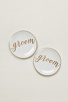 Groom and Groom Dessert Plates Set of 2 GPD1GG