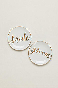 Bride And Groom Dessert Plates Set of 2 GPD1