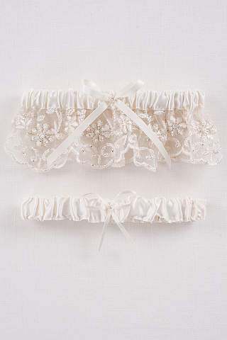 DB Exclusive Beaded Lace Garter Set
