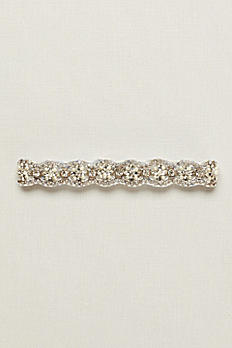Brooklyn Rhinestone Garter with Pearls GTRBRKLYN