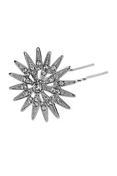 Antique Silver Star Mini Hair Pin Set