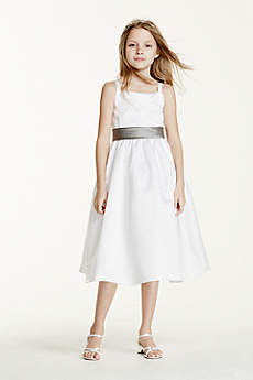Short A-Line Spaghetti Strap Communion Dress - David's Bridal