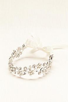 Cut Crystal Tie-Back Headband H12426