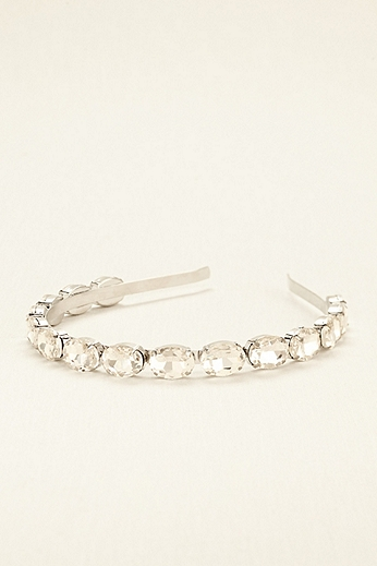 Faceted Oval Crystal Headband H22437