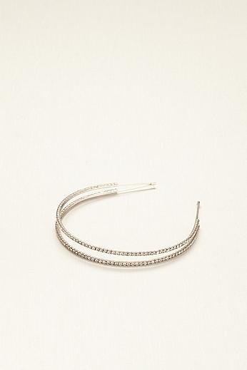Double Row Rhinestone Headband H28707
