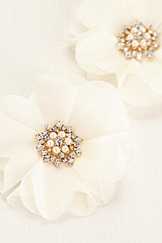 Chiffon Flower Pearl Cluster Duo H370631