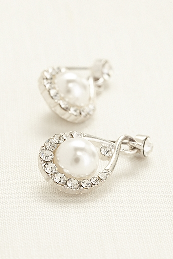 Crystal and Pearl Drop Earrings H37856E01
