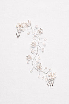 Pearl Blossom Wire Hair Vine H514663