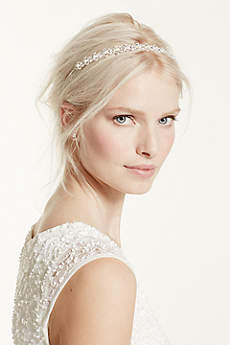 Thin Headband with Crystals and Pearls