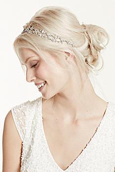 Crisscross Crystal Tie Back Headband H9064
