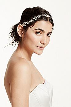 Filigree Crystal Tieback Headband H9065