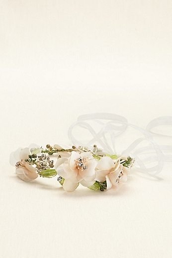 Soft Tieback Flower Headband H9096