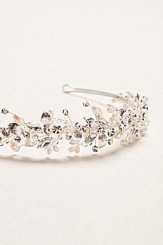 Thin Floral Pearl Headband H9101