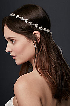Crystal Burst Ribbon Headband H9125