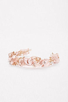 Blush Floral Flexible Headband H9136