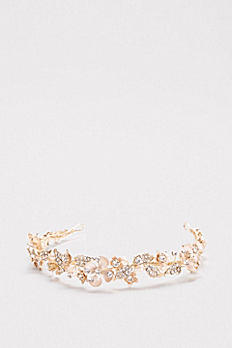Crystal Petals Flexible Headband H9142