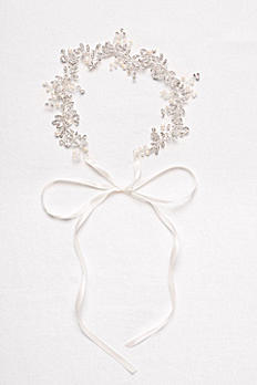 Delicate Crystal and Pearl Flower Hair Accessory H9151