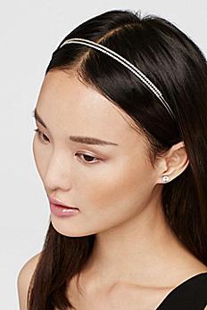 Double Row Crystal Headband HA2