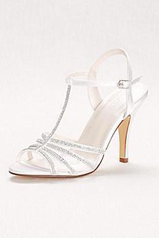 Crystal T-Strap High Heel Sandal HANNAH