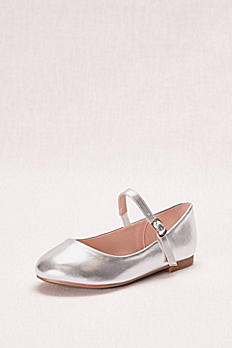Metallic Mary Jane Girls' Ballet Flat HARPER5X