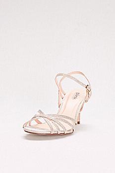 Thin Strap Low Heel Glitter Sandals HARPER