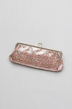 Allover Glitter Frame Clutch HB2032