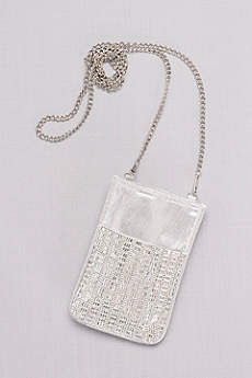 Gridded Crystal Mini Bag with Chain Strap