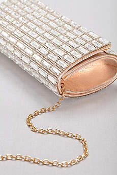 Pave and Baguette Studded Clutch