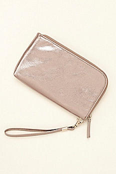 Metallic Wristlet with USB Charger HBCHIC