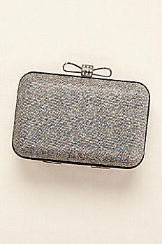 Glitter Minaudiere with Bow Clasp HBDISCO