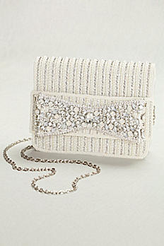 Beaded Bow Clutch HBE6520