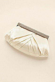 Soft Pleated Clutch with Crystal Clasp HBFANCY
