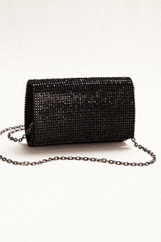 Crystal Embellished Flap Clutch HBG2094
