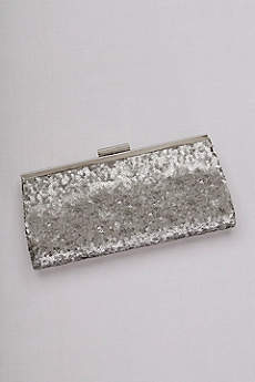 Allover Sequin Frame Clutch