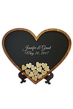 Personalized Heart Shaped Drop Heart Guest Book HEART00