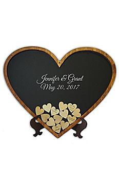Personalized Heart Shaped Drop Heart Guest Book HEART00