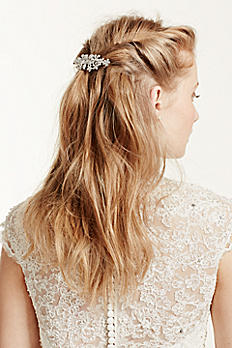 Barrette with Floral Pave Detail HJ10012