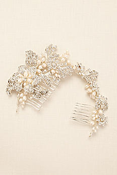 Pearl and Rhinestone Moldable Hair Wrap HJ10642