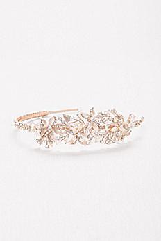Etched Petal Jeweled Headband HJ14695