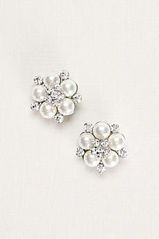 Pearl and Crystal Shoe Clip HJ15003