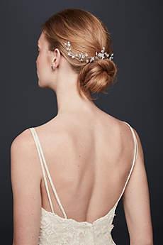 Crystal Blossom Wire Hair Vine