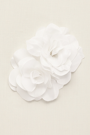 Double Fabric Flower Comb HJ2852