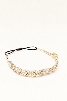 Headband with Crystal Baguettes and Pearls HR3130