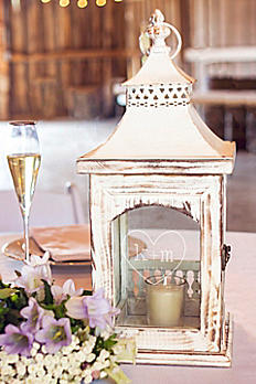 Personalized Rustic Heart Centerpiece Lantern HRT-CP3915