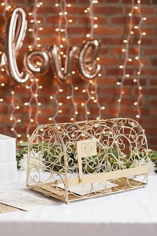Personalized Heart Gift Card Mailbox Holder David S Bridal