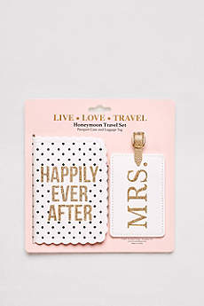 Honeymoon Passport Case and Luggage Tag Set