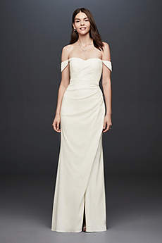 Long Sheath Off the Shoulder Dress - DB Studio